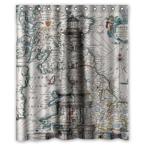 Galbreath Case Seaside Lighthouse Shower Curtain Bathroom Shower
