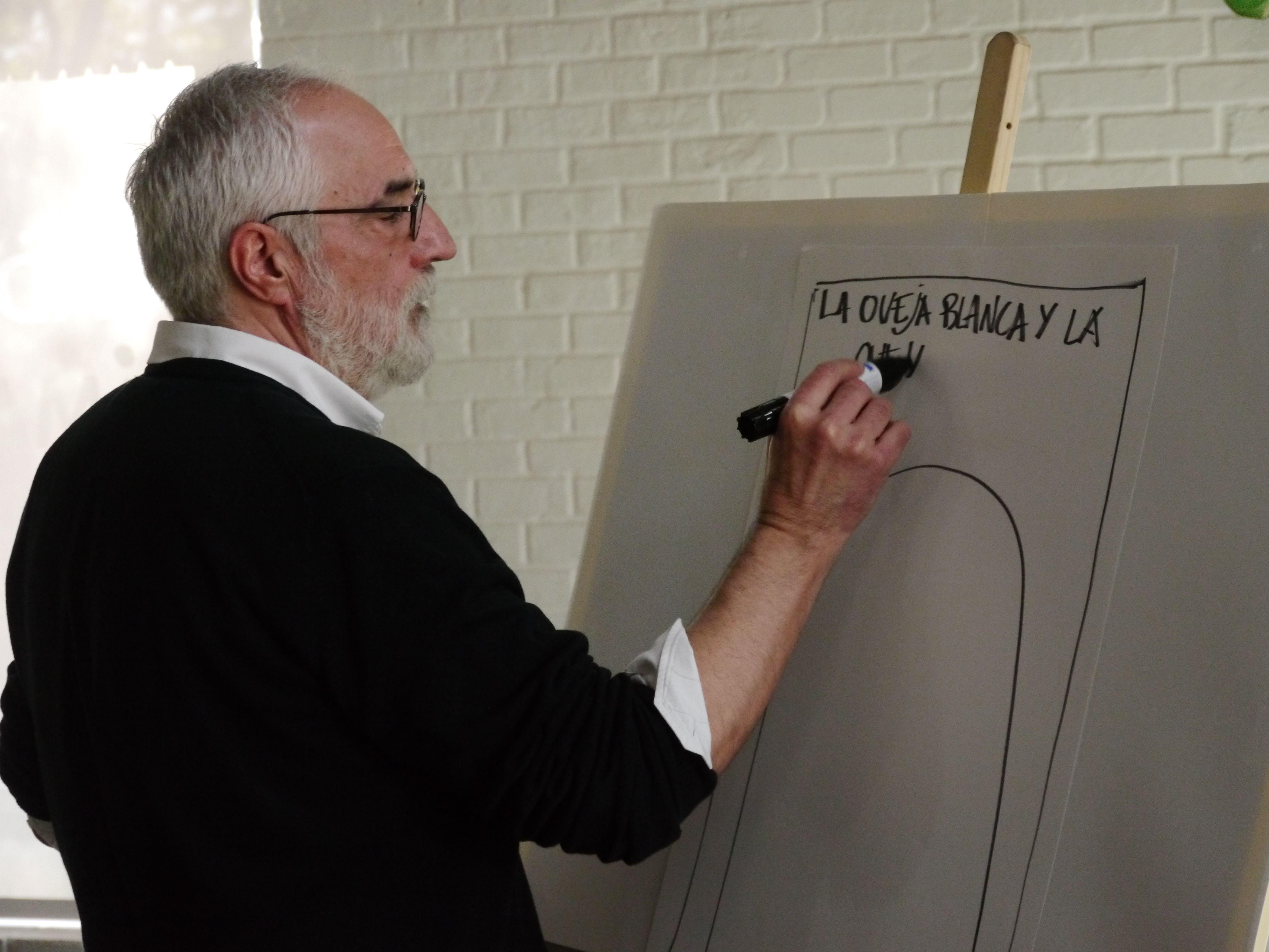 Emilio Urberuaga, Premio Nacional de Ilustración, fue un padrino excepcional en el II Premio al Álbum Ilustrado en El Retiro.