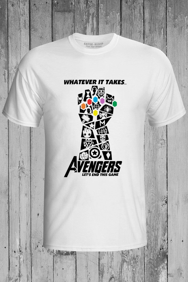 bdea56ace562 US $9.99 50% OFF|Aliexpress.com : Buy Avengers 4 Endgame T Shirt Marvelous  Infinity War End Game Thanos Tshirt Novelty T shirt EATGE Cotton White Gray  Men ...