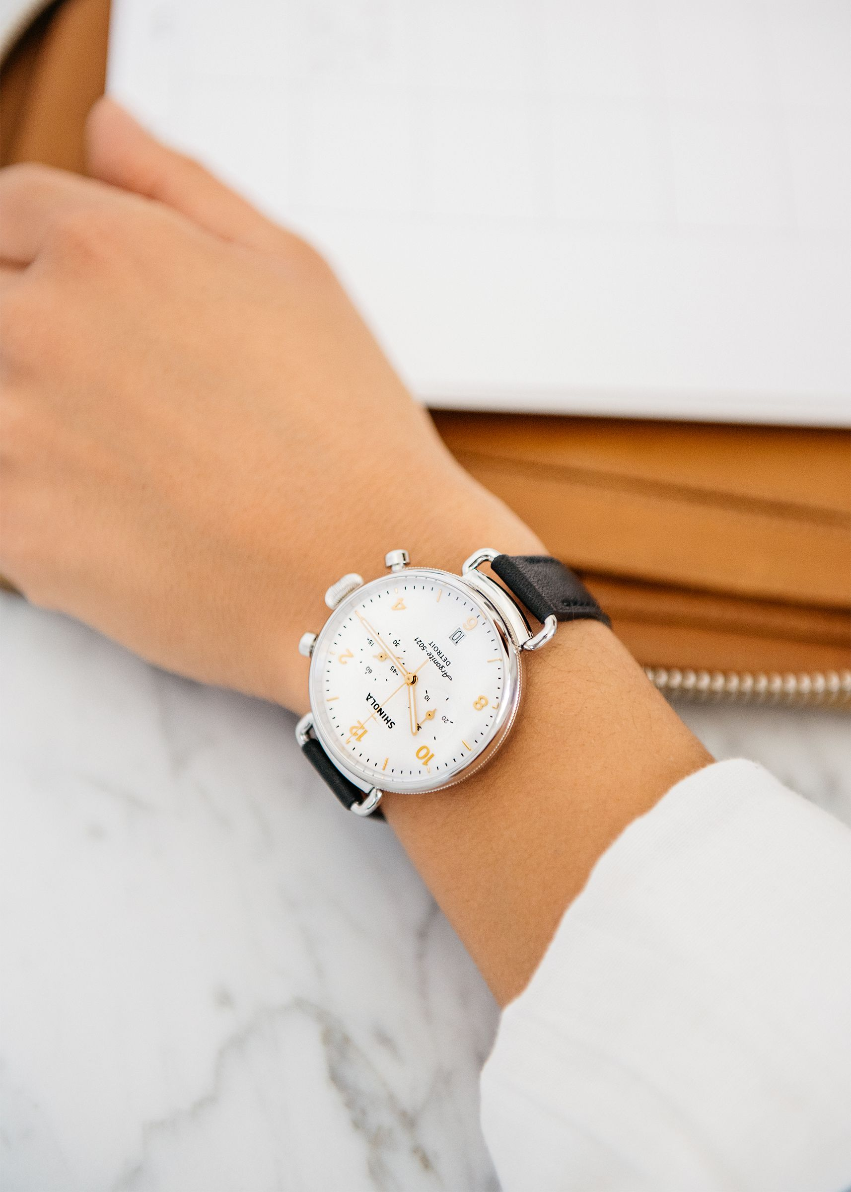 2fcb0a61b Women's Watch - The Canfield Chrono 38mm White Dial with Black ...