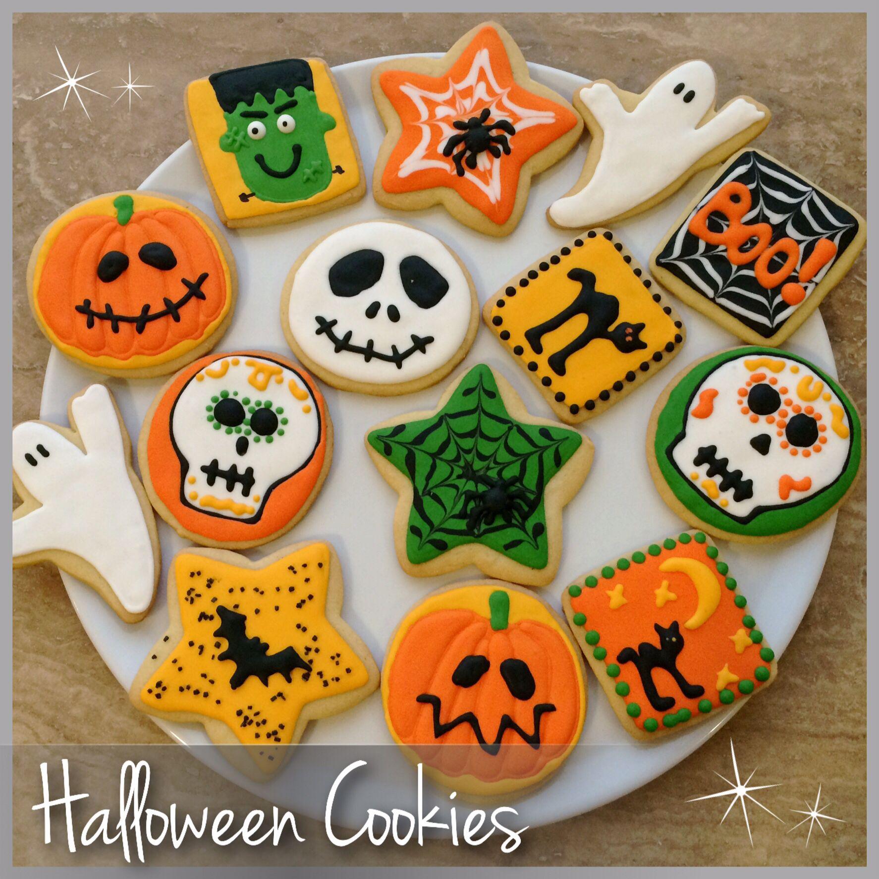 Royal icing halloween cookies!