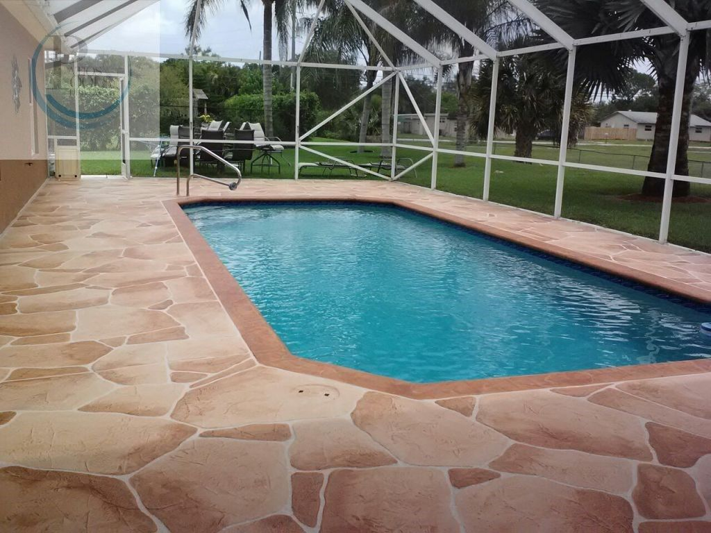 Concrete Overlay Pool Deck Decorative Concrete Overlay For A Pool Remodeling Job