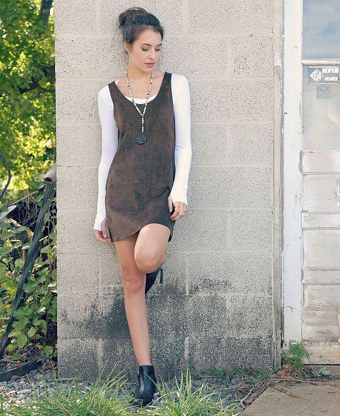 f80d57aece BB Dakota Suede Jumper Dress