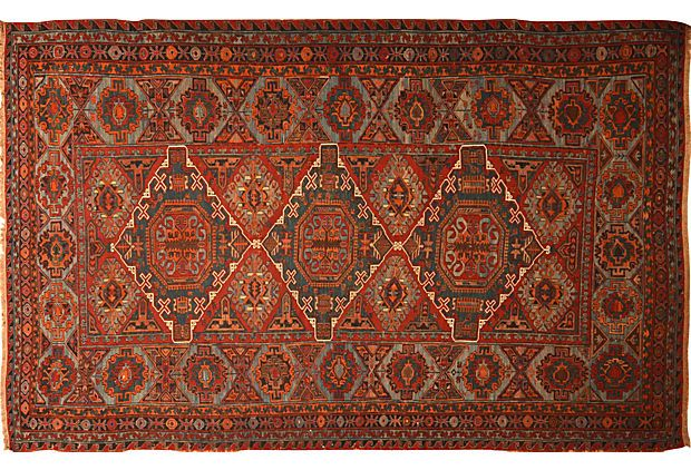 "Antique Caucasian Soumak, 7'4"" x 11'9"" on OneKingsLane.com"