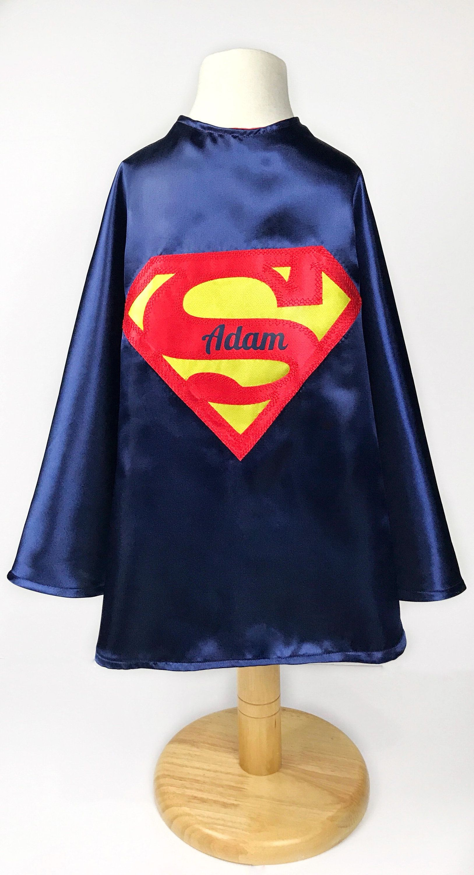 Personalized Superman Cape And Mask Kids Superhero Costume Toddler Birthday Party Outfit