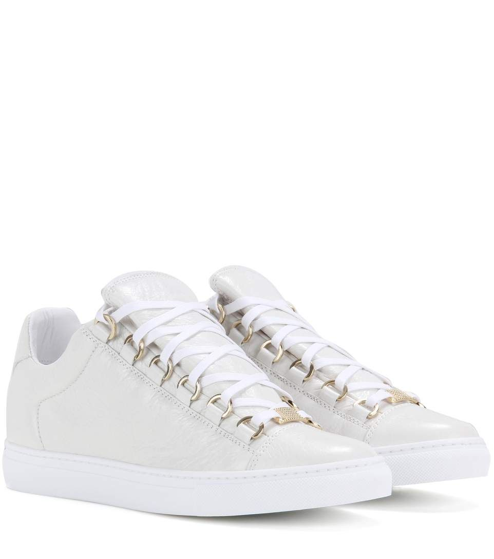Arena Crinkled Leather Sneakers