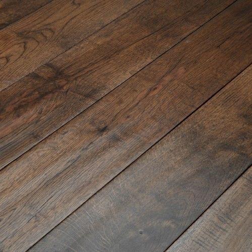 18mm X 125mm Hand Scraped Coffee Oak Solid Flooring Dark Real Wood
