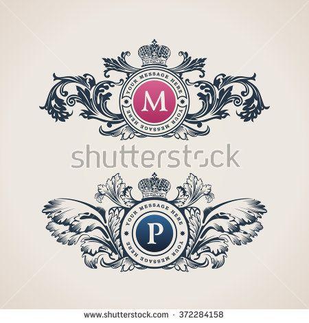 Vintage Decorative Elements Flourishes Calligraphic Ornament Letter - best of luxury invitation vector