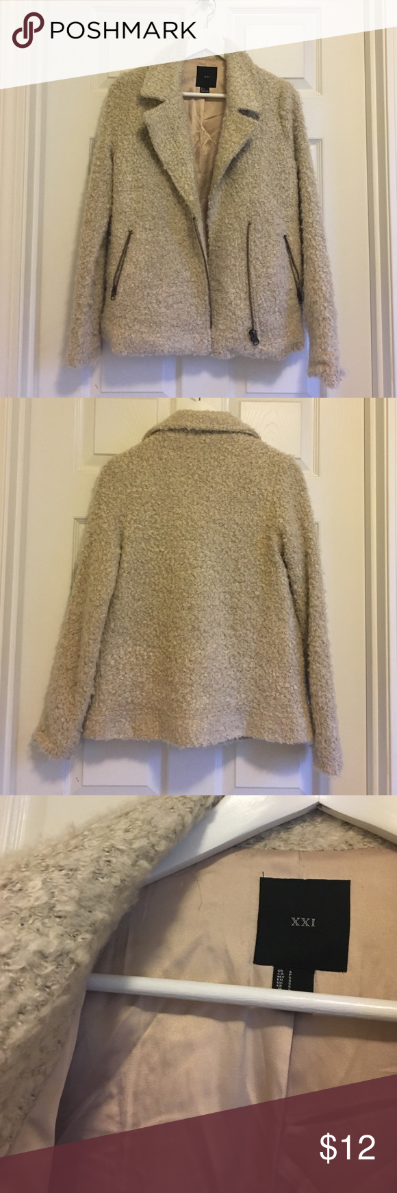 Shearling coat Worn few times// fairly warm Forever 21 Jackets & Coats