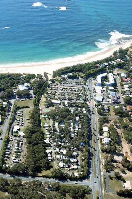 Dicky Beach Family Holiday Park Aerial View Of Dicky Beach Holiday Park Caravan Park And Holiday Park