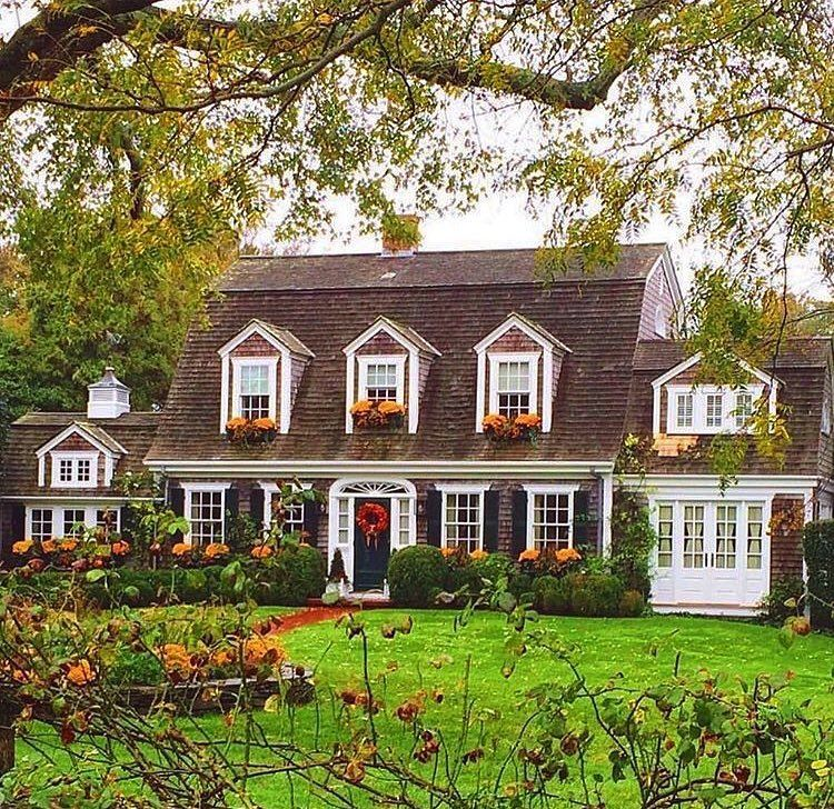 559 Likes 13 Comments Kristy Woodson Harvey Kristywharvey On Instagram Fall Rollin In Image Via House Exterior Cape Cod Style House House Styles