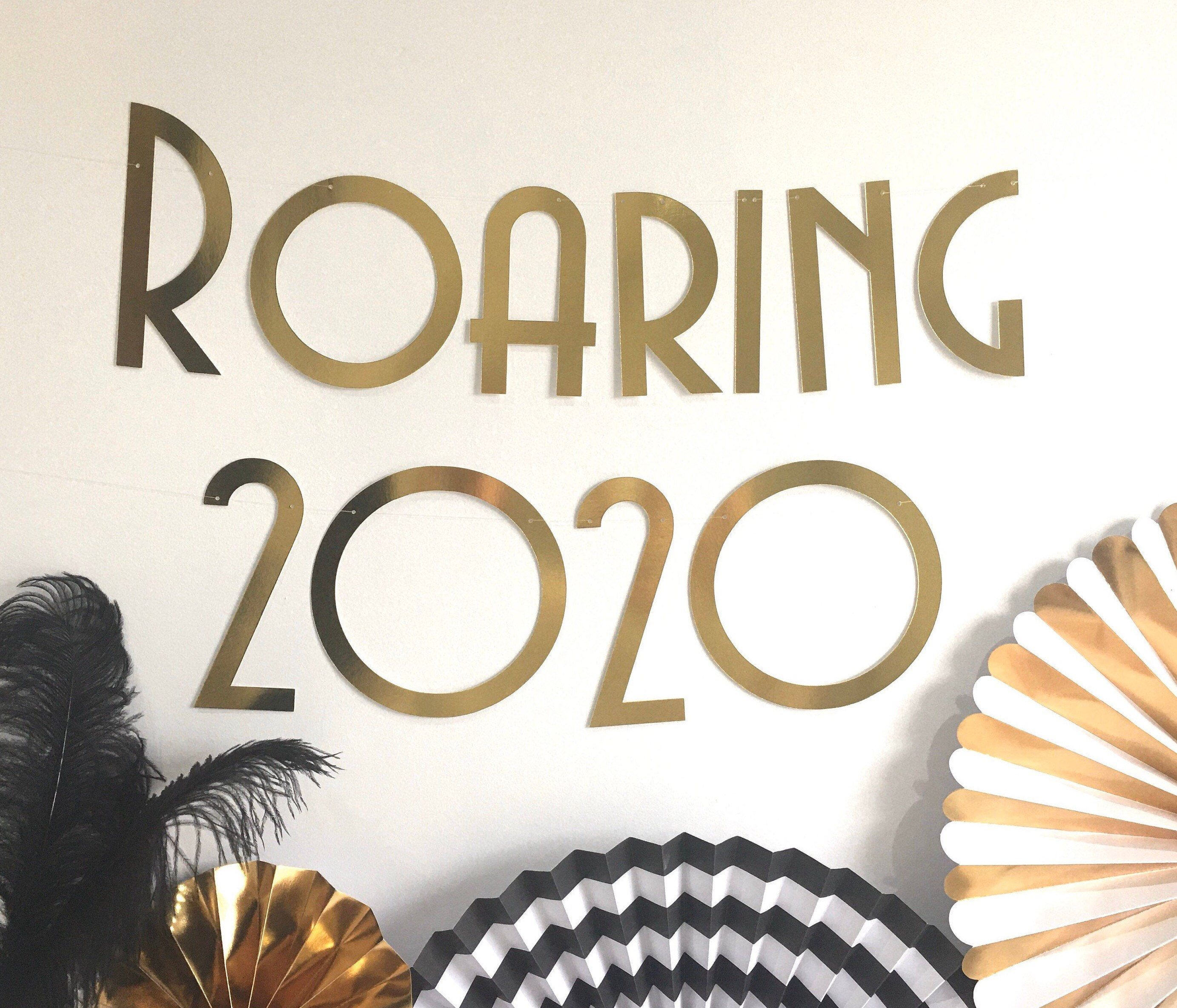 2020 New Years Eve Banner, Roaring 20's them party New