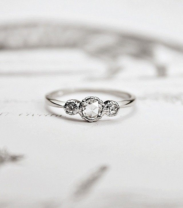16 Subtle Engagement Rings For S Who Don T Love Bling Via Whowhatwear