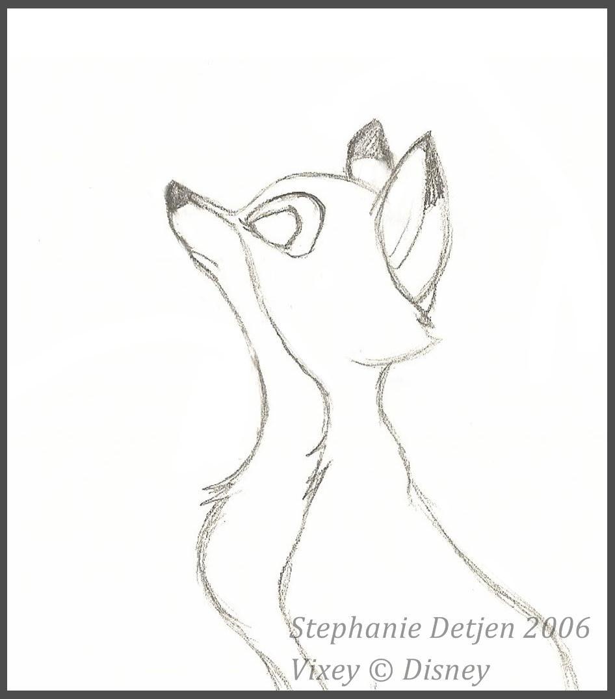 Stephanie Detjen 2006 Vixey From The Fox The Hound C Disney Disney Drawings Disney Art The Fox And The Hound