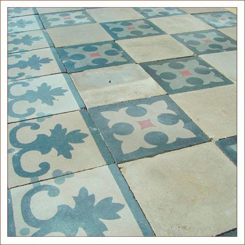 French Cement Floor Tiles Antique Ceramic And Carreaux De Ciments