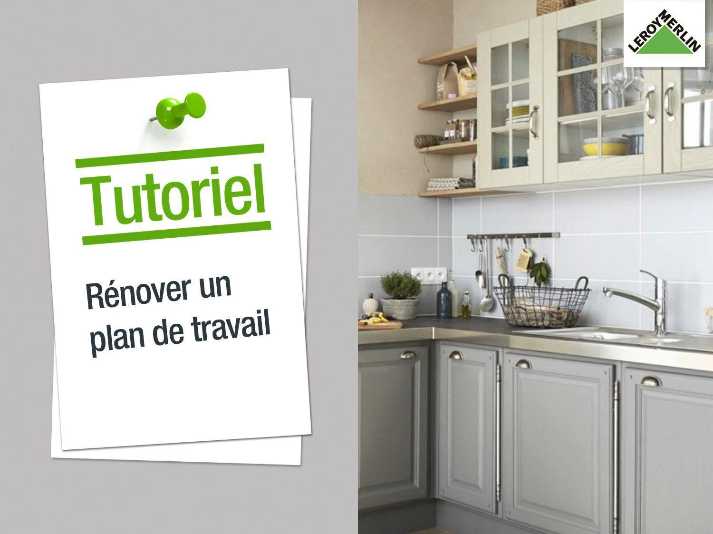 Comment r nover son plan de travail relooking cuisine - Coller un plan de travail sur du carrelage ...
