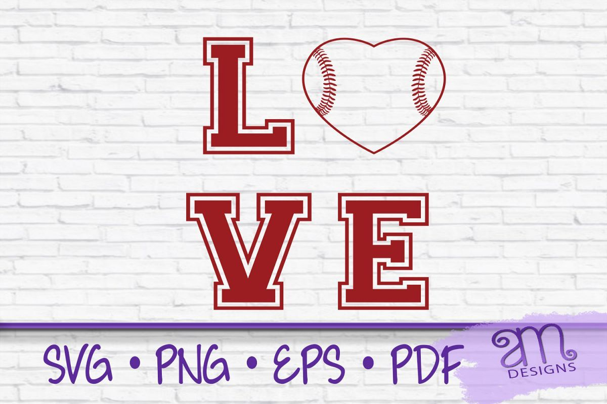 Download Baseball, Baseball Love Svg, Baseball Heart svg, Love svg ...