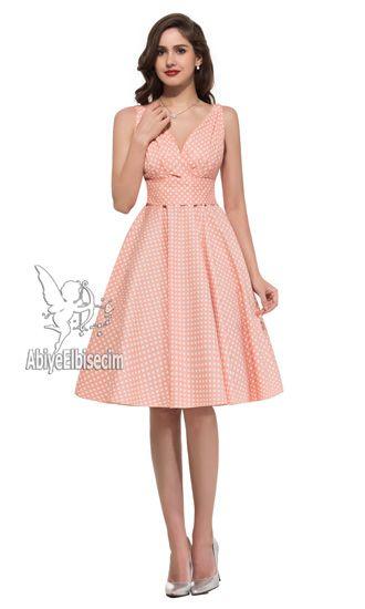 Bayan Elbise Askili Puantiyeli Elbise Elbiseler Kiyafet