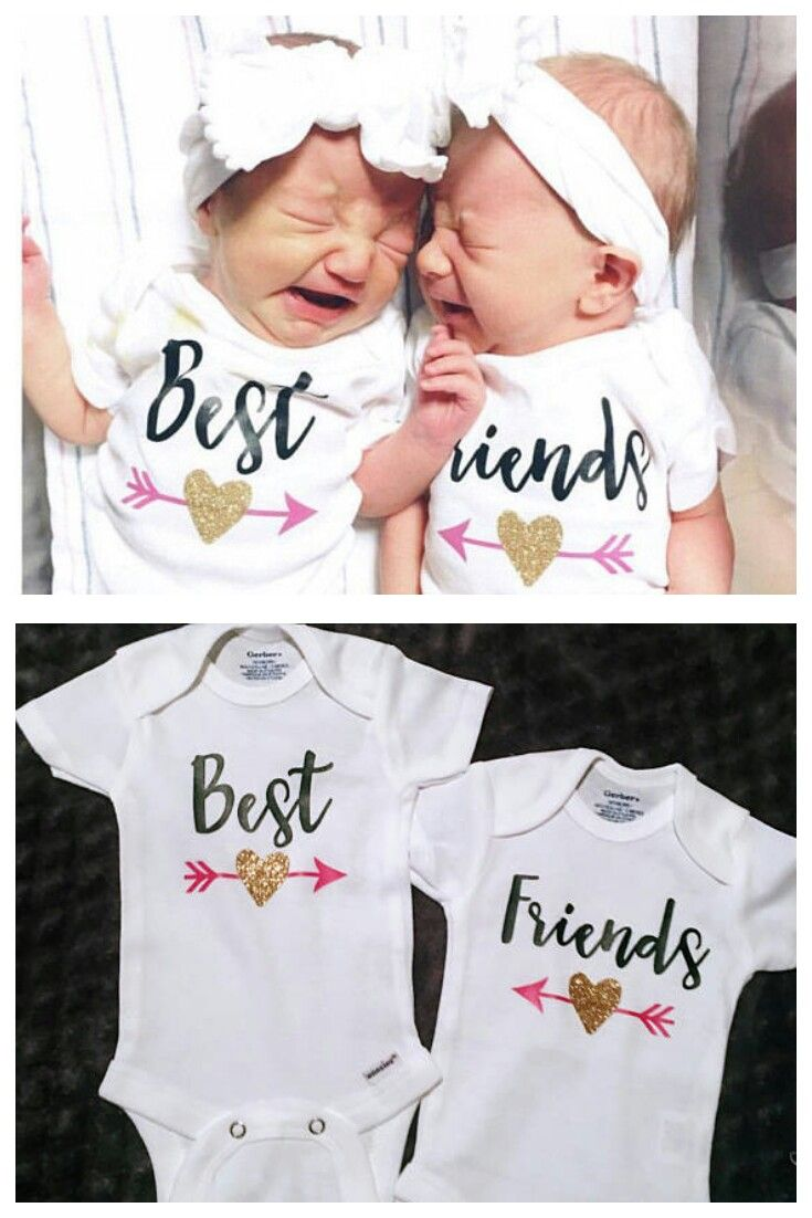Best Friends Twins Baby Onesies®, Twins Coming Home Outfit, Best ...