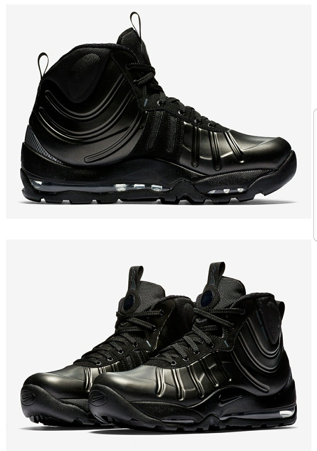 3206f8d6396118 Nike Air Bakin Posites  Triple Black