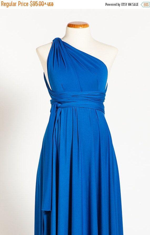 Baby Shower Maternity Infinity Dresses, Blue Baby Shower Dress, Maternity  Dresses, Baby Shower Convertible Dress, Ready To Ship Maternity
