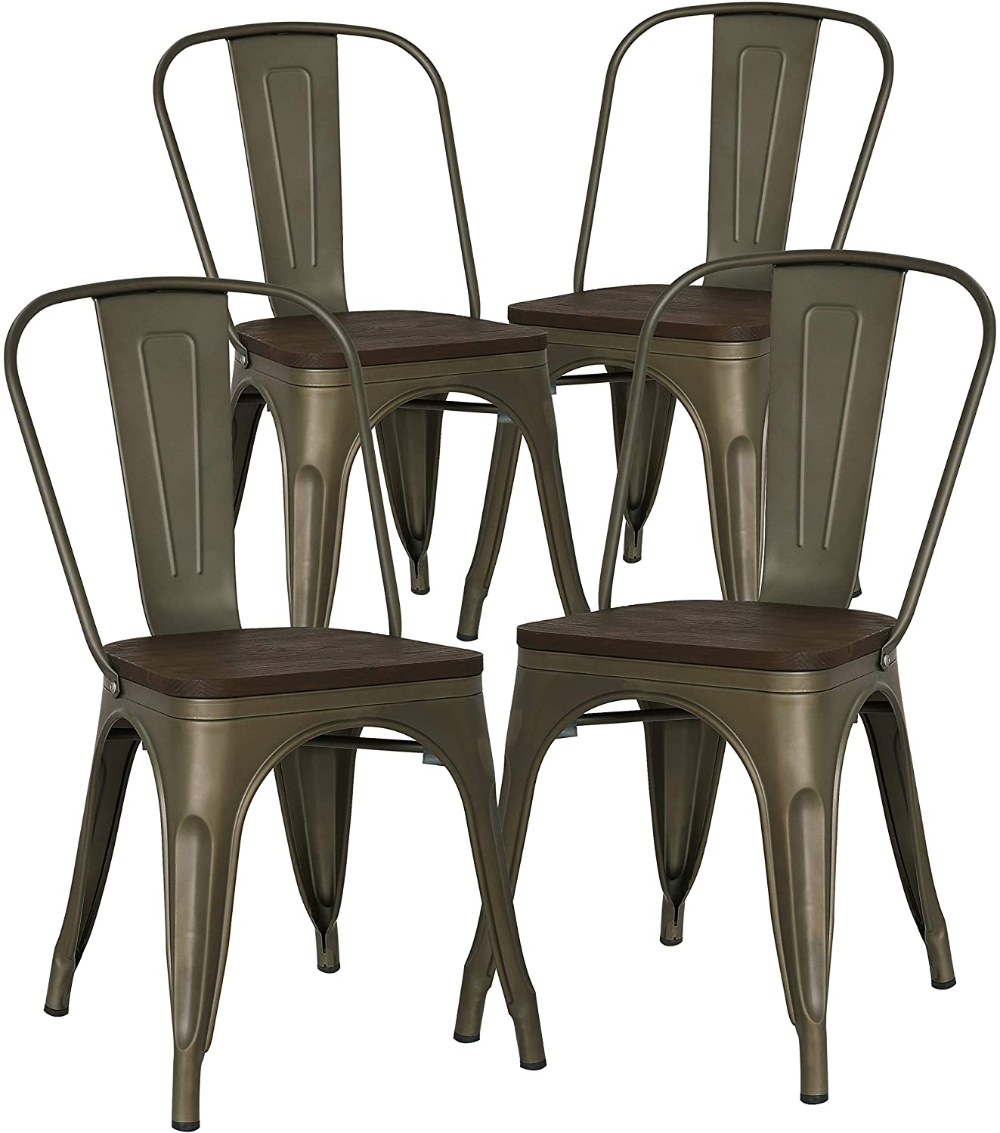 POLY & BARK Trattoria Side Chair in Black
