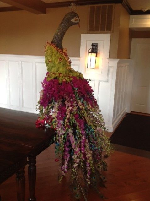 Peacock made from Orchids - Designed by Crest Florist