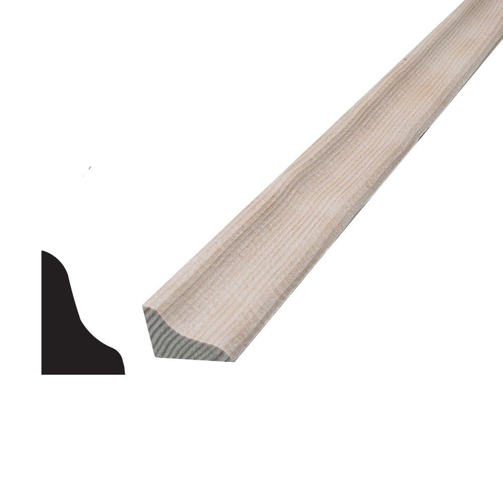 Alexandria Moulding 1 2 In X 3 4 In X 96 In Hemlock Base Shoe Moulding 03290 800rlc The Home Depot Base Shoe Molding Shoe Molding Moldings And Trim