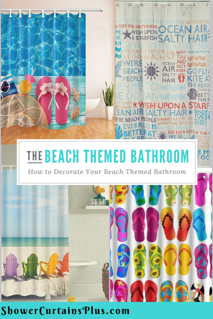 Rv Shower Curtain 47 X 64 Your Beach Themed Bathroom Doesn T Have To Be Like All The Rest