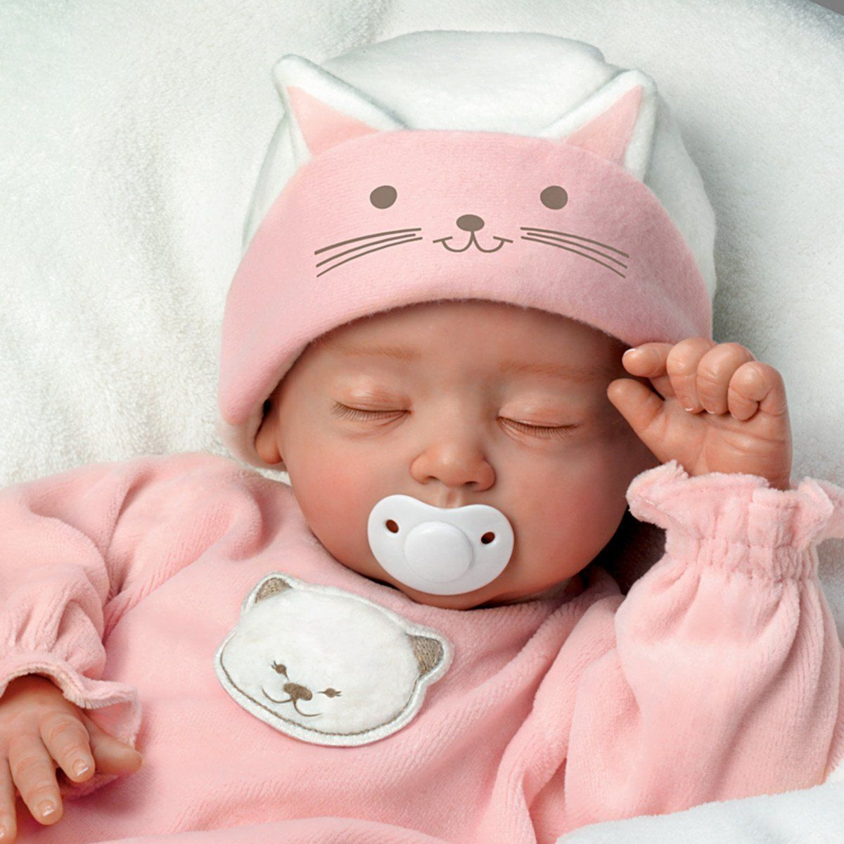 Amazon Com Katie My Sweet Little Kitten So Truly Real Lifelike Baby Girl Doll By The Ashton Drake Galleries Toys Baby Dolls Baby Girl Dolls Real Baby Dolls