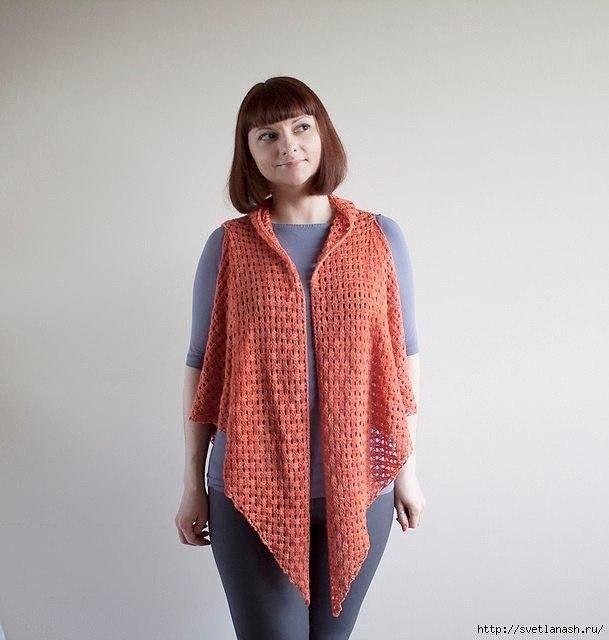55bb1c3d761e Χειροτεχνήματα  Πολυμορφική πλεκτή εσάρπα με βελονάκι transformable crochet  shawl