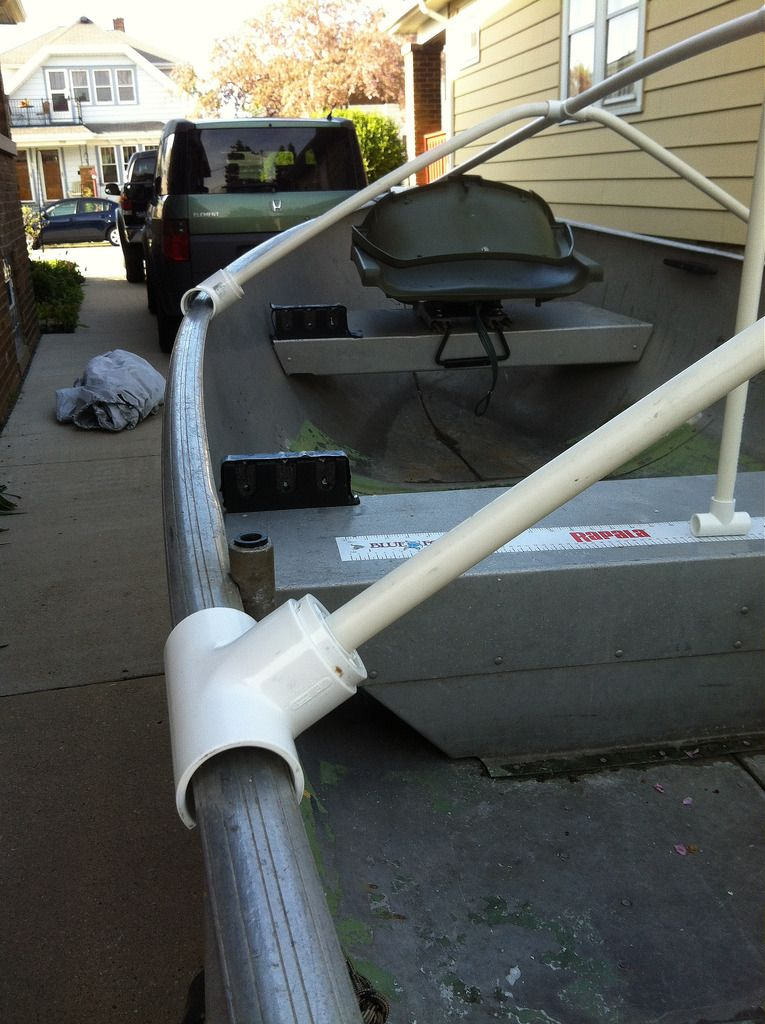Fourtitude com - DIY: Boat Cover (or tarp) Support | Lake