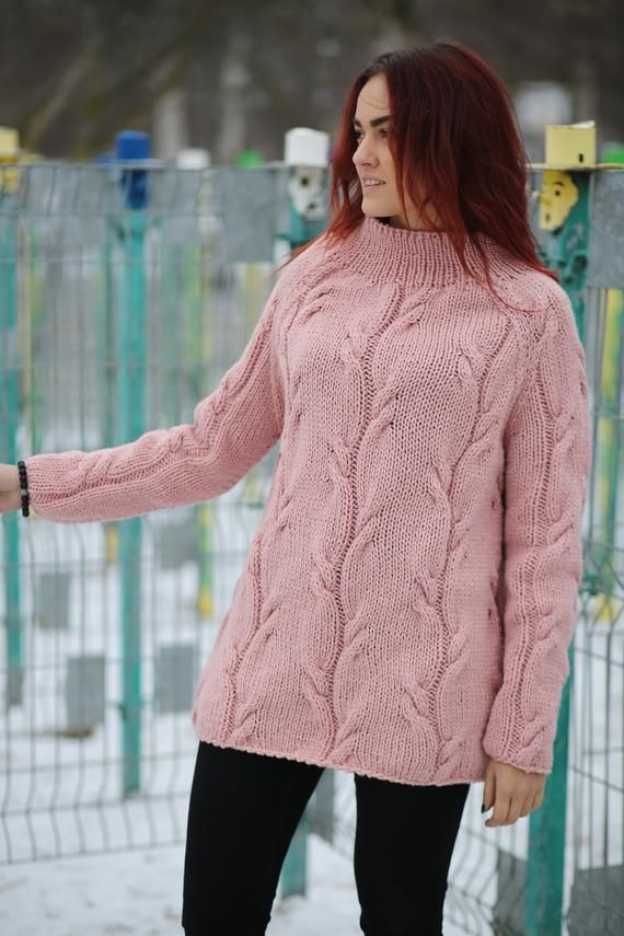 aa8fdbc101d91b Hand Knit Sweater For Women Loose Sweater Warm Sweater