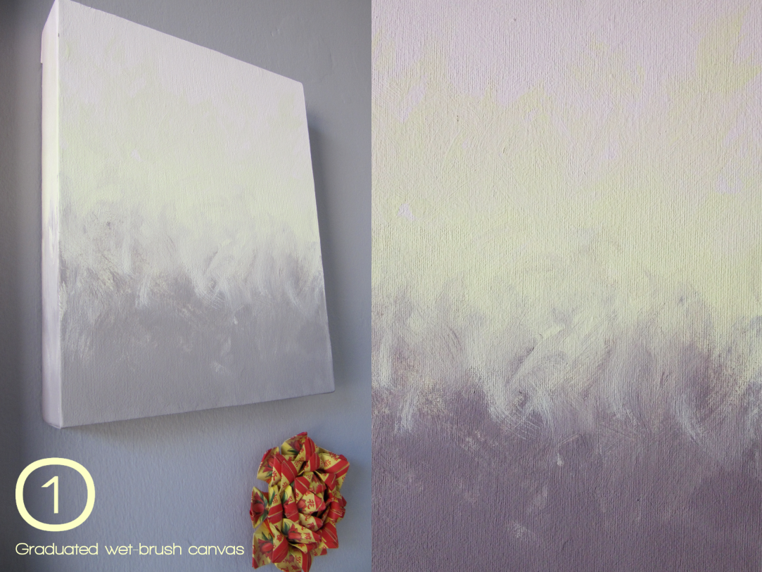 Wall painting effects - Beyond The Wall Paint Effect Canvas Artwork How To