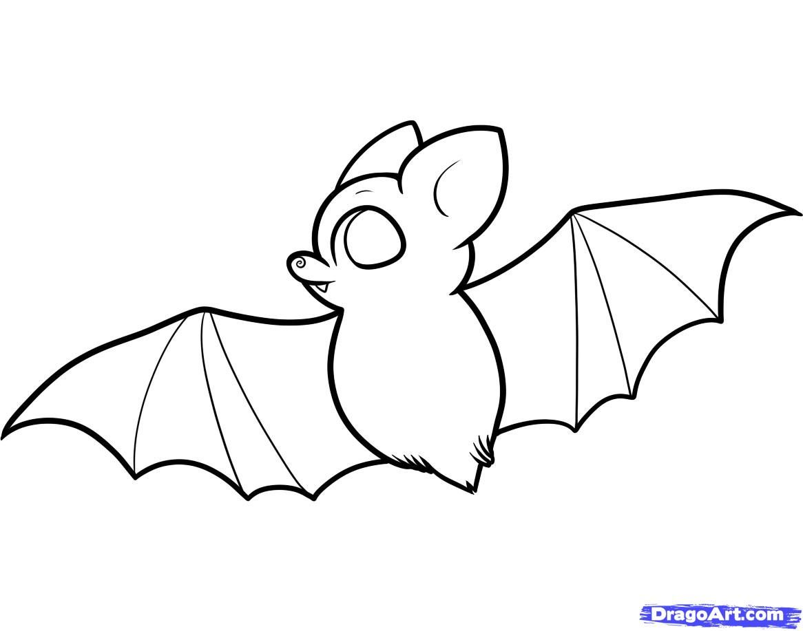 How To Draw A Bat For Kids By Dawn Draw A Bat Halloween
