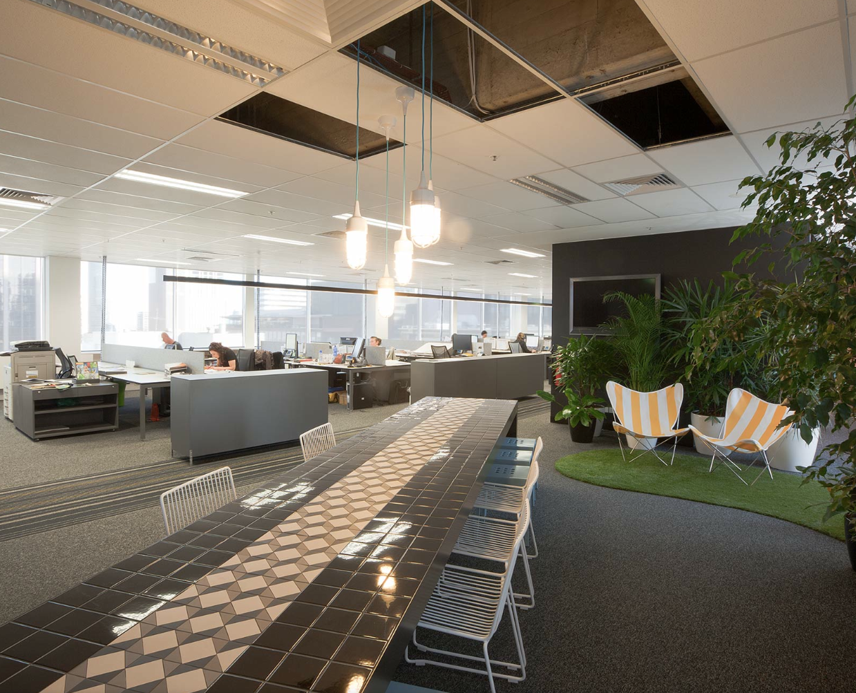 cool office space designs. Red Design Group, Melbourne Office - Creates Distinct Areas In Open Plan With\u2026 Cool Space Designs