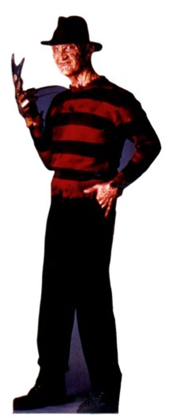 freddie kreuger a nightmare on elm street life size movie stand up the perfect - Freddy Krueger Halloween Decorations