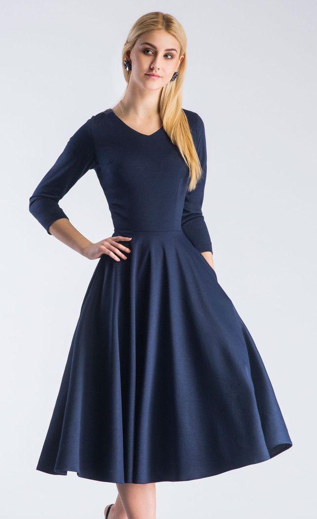 84b02c299d Sukienka FLER Total Midi Granat - LiviaClue - Sukienki midi