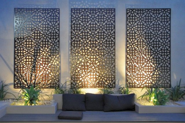 Modern Garden Wall Art Grail Outdoor Screen And Wall Art Contemporary Outdoor  Wall Art