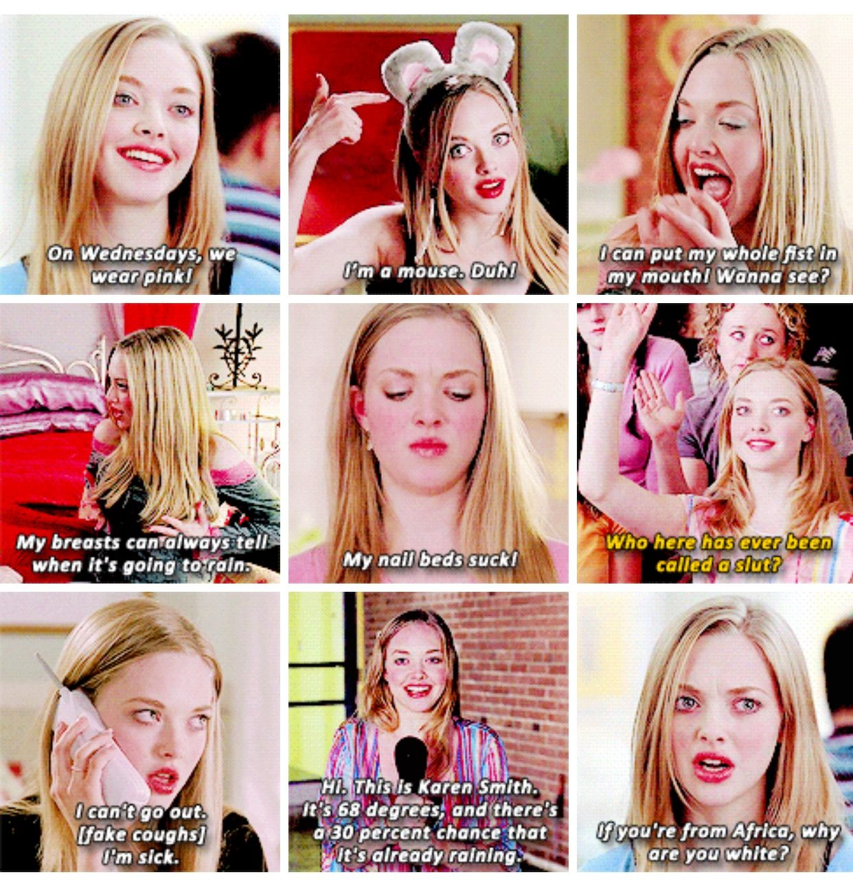 Karen Smith Meangirls Mean Girls Movie Karen Mean Girls