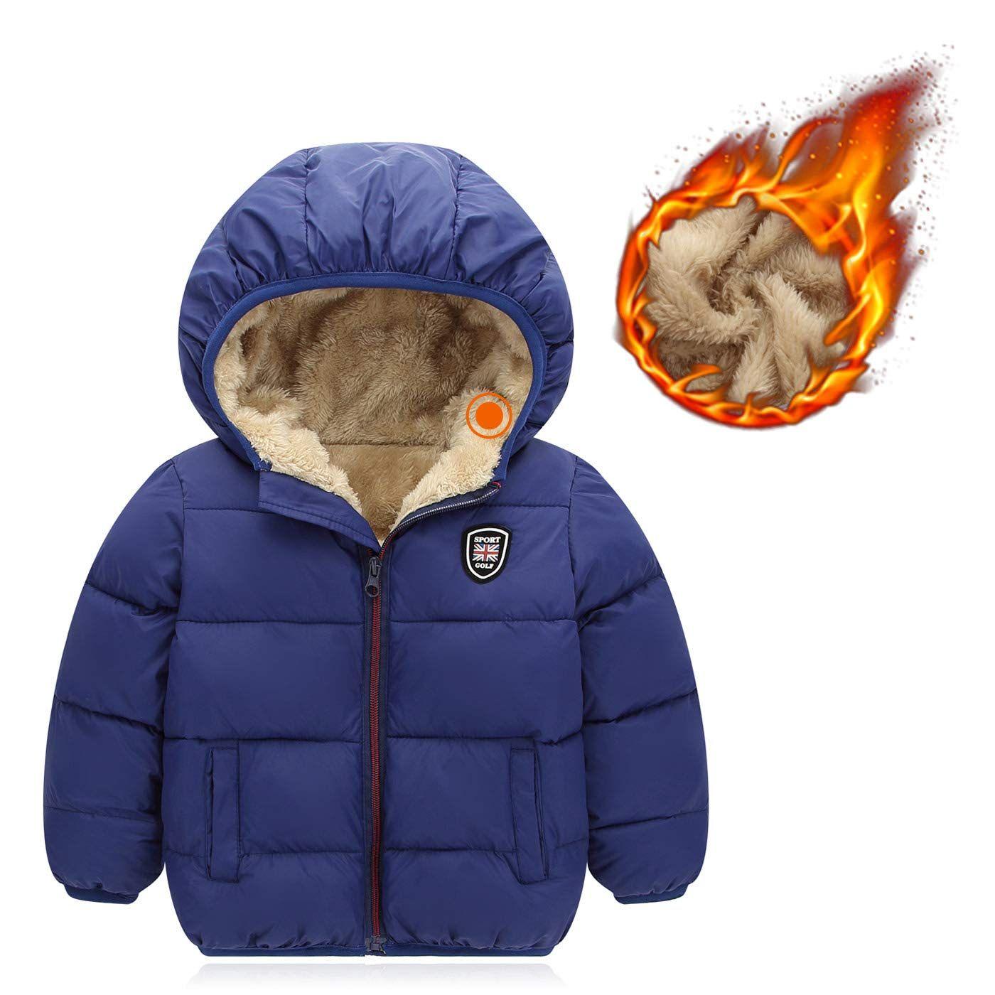 Baby Winter Fleece Coat Jacket,Baby Boys Girls Fleece Windproof Winter Coat Thicken Warm Outwear