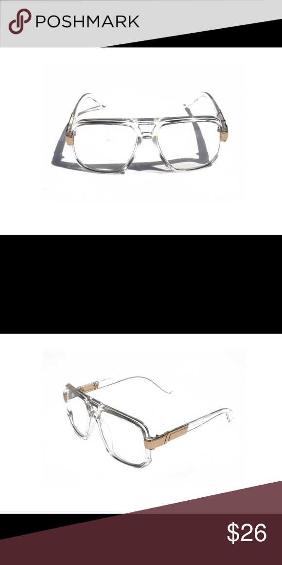 ec009bd46f72 Square Frame Plastic Flat Top Aviator Glasses Classic Square Frame Plastic  Flat Top Aviator Glasses /w Metal Trimming and Clear Lens, only worn 4  times.