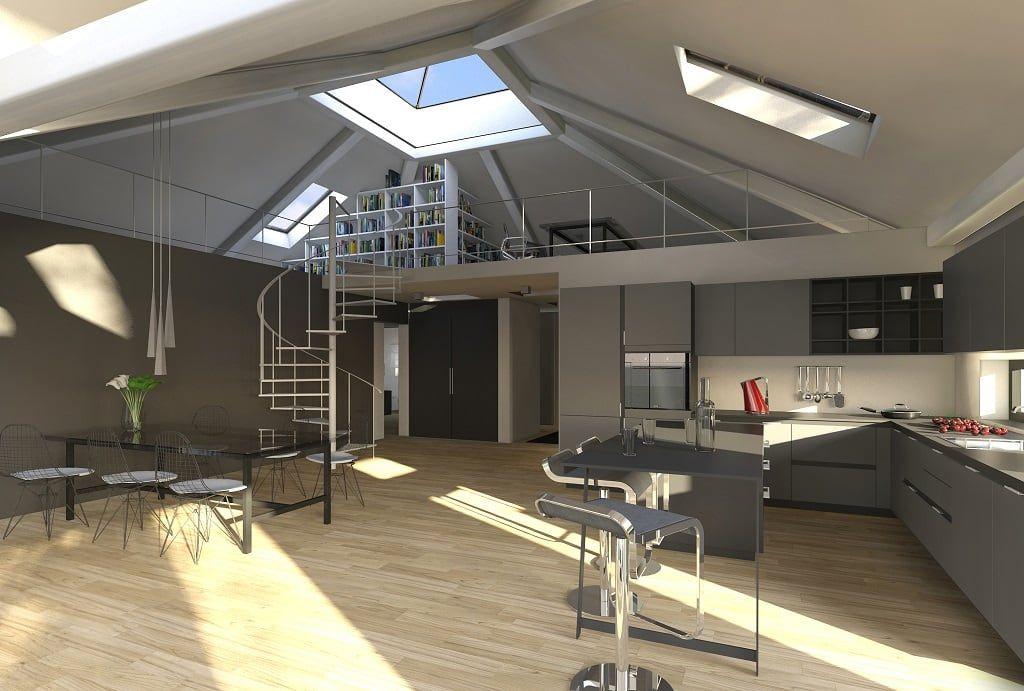 Moderne Küche Bilder: K-MÄLEON Hybridhaus // Koch- und Essbereich ...