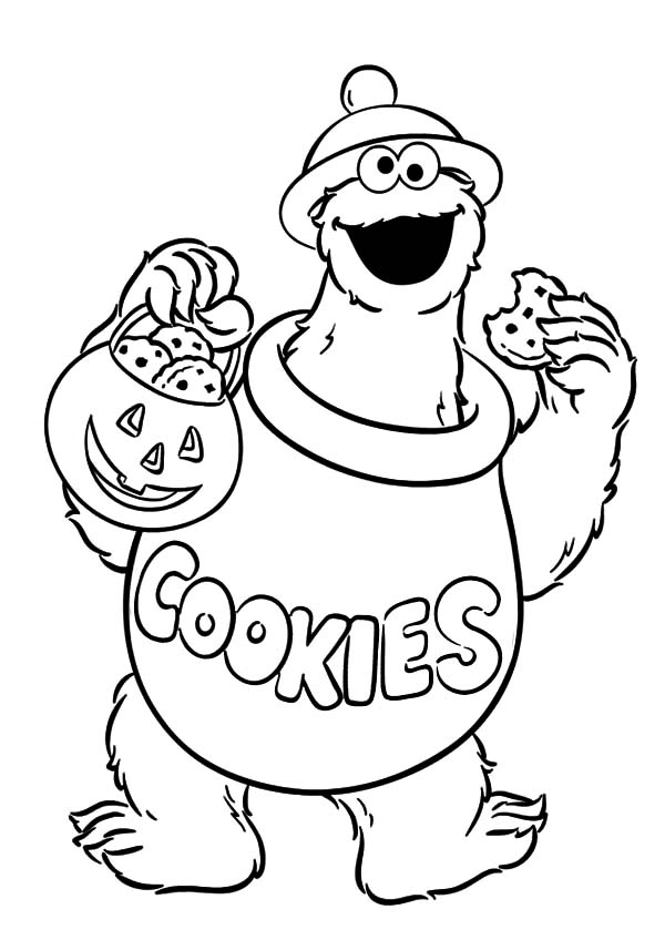Halloween Cookie Monster Coloring Pages Coloring Sky In 2020 Monster Coloring Pages Halloween Coloring Sheets Halloween Coloring Pages