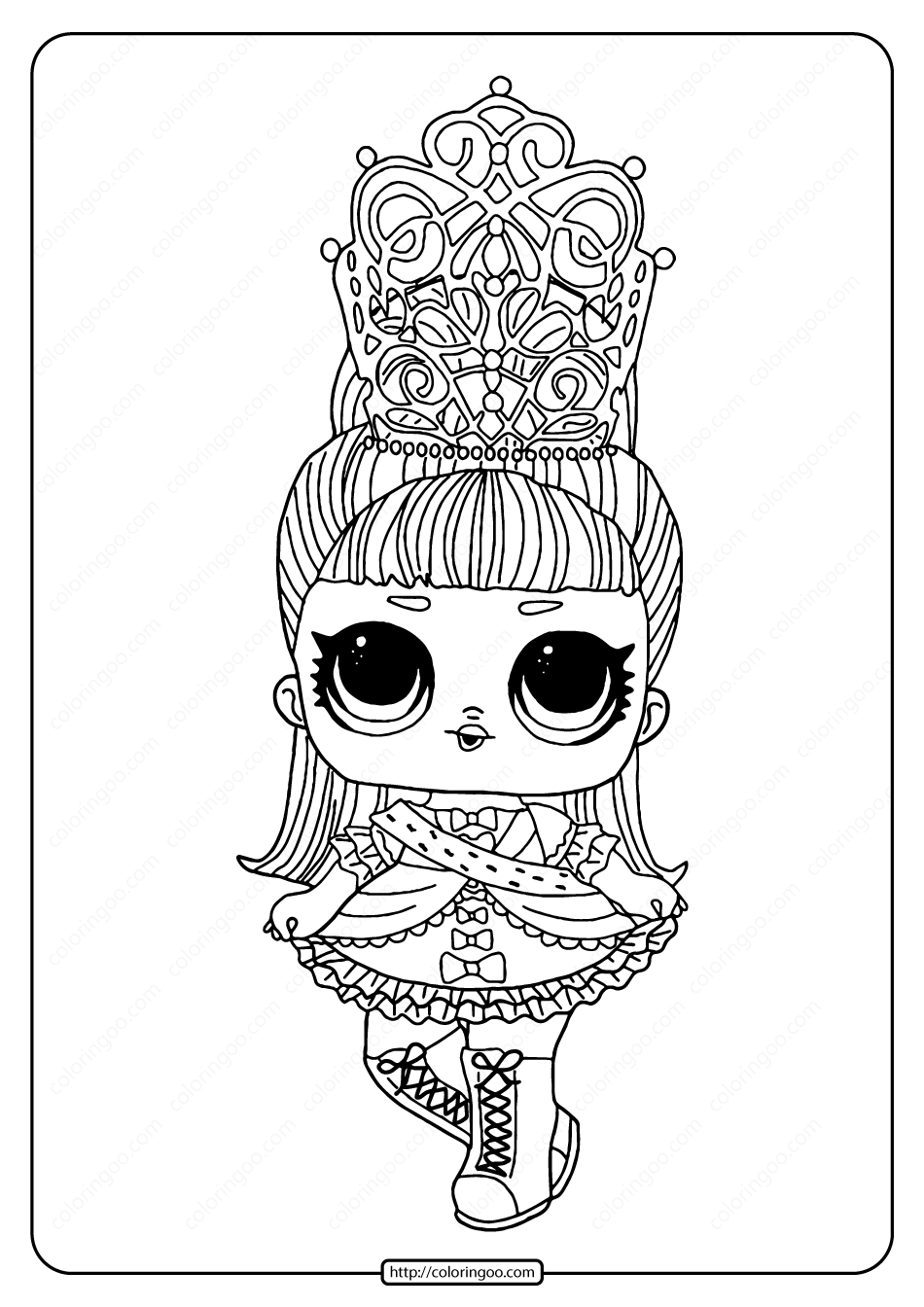 Lol Surprise Hairgoals Her Majesty Coloring Page Baby Coloring Pages Cool Coloring Pages Coloring Pages