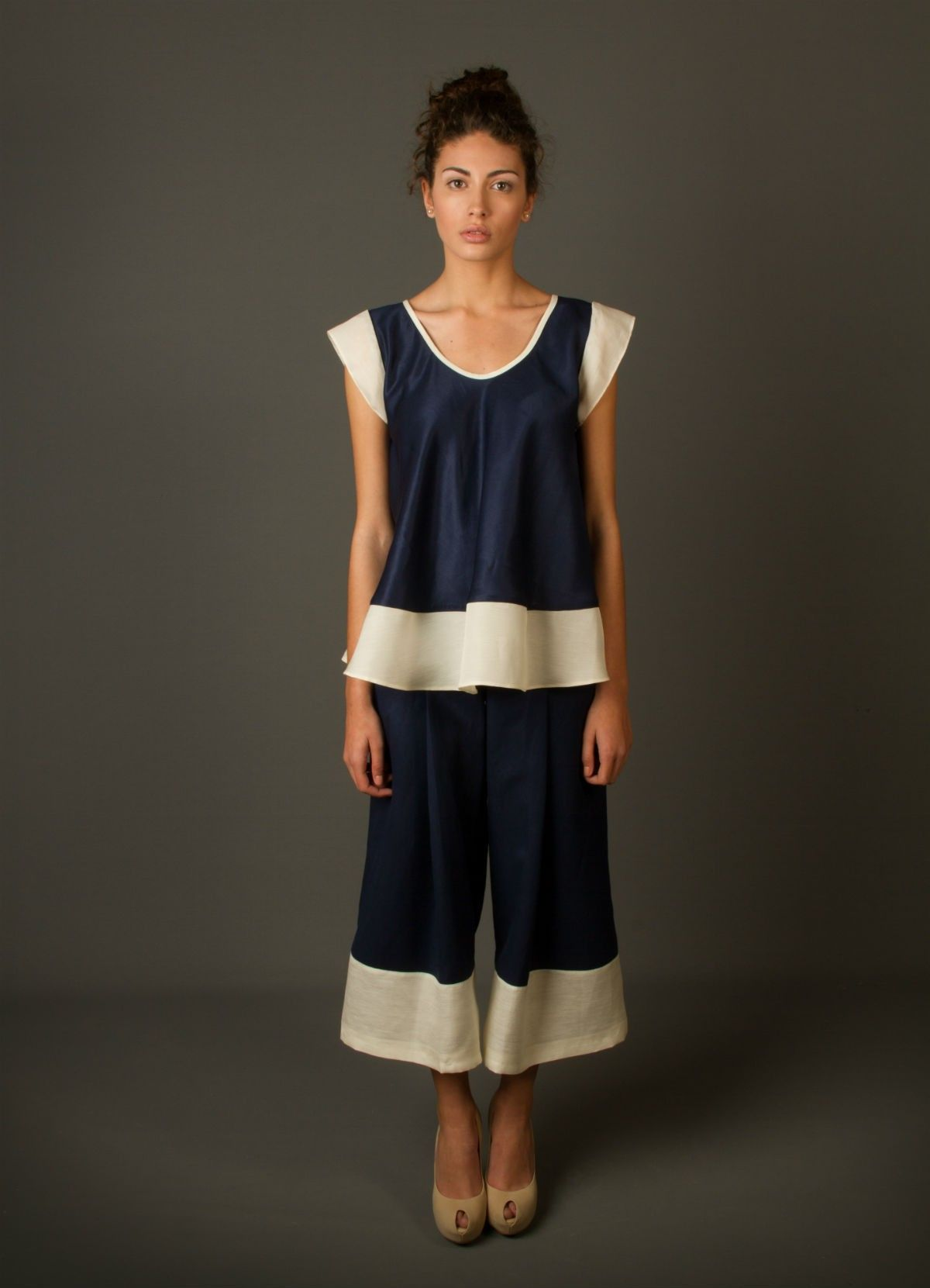 Women Suit ASTER - Top and Pants, Made in Spain --  https://cockyfashion.com/women/suits/desiner-suit-aster-top-and-pants.html