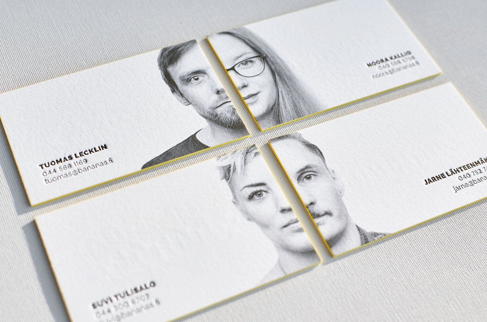 For us business cards with portraits always looked quite strange ...