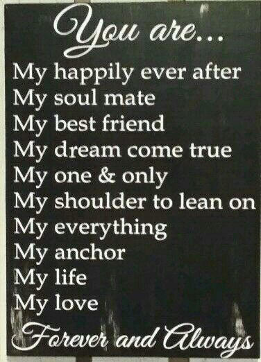 My wife Victoria is all of this and more to infinity and