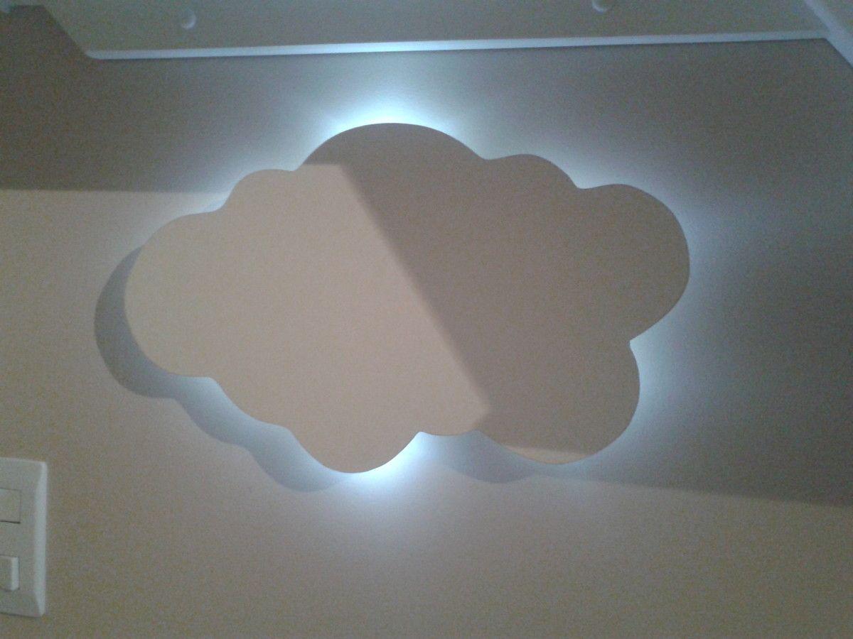 Luminaria Nuvem Ponto Luz Led Abaju Luminaria Nuvem Led Luz De Led