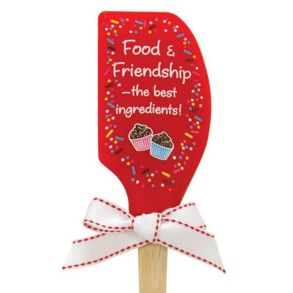 Food & Friendship Silicone Spatula #food #kitchen #spoons #accessories #cute #home #decor #fun #brownlowgifts #brownlow #friends #friendship